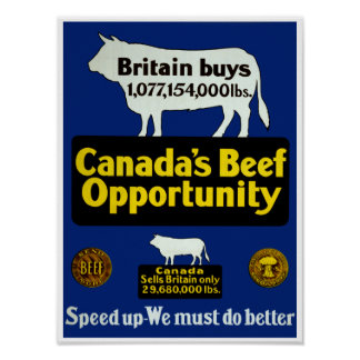 Canada's Beef Opportunity Poster