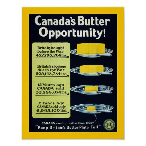 Canada's Butter Opportunity (border) Posters