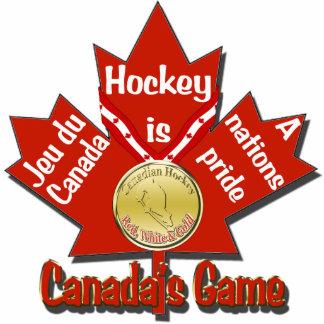 Canadas Game Hockey Tree Ornament Photo Sculpture Decoration