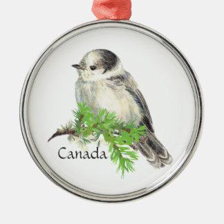 Canada's National Bird Gray Grey Jay, Whiskey Jack Christmas Ornament