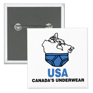 Canada's Underwear 15 Cm Square Badge