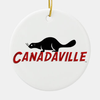 Canadaville Beaver Round Ceramic Decoration