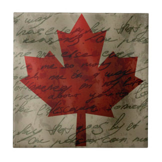 Canadean flag small square tile