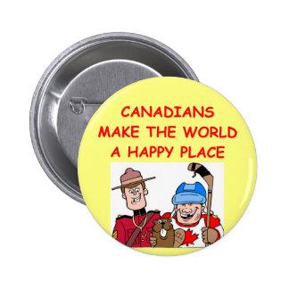 CANADIAN 6 CM ROUND BADGE