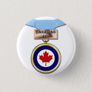Canadian Ace medal button