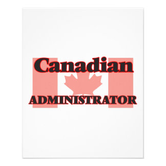 Canadian Administrator 11.5 Cm X 14 Cm Flyer