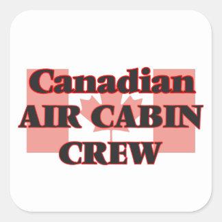 Canadian Air Cabin Crew Square Sticker