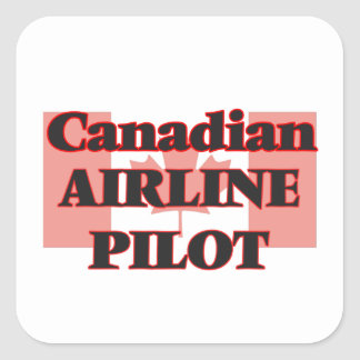 Canadian Airline Pilot Square Sticker