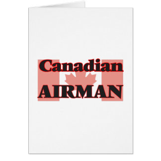 Canadian Airman Greeting Card