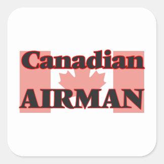 Canadian Airman Square Sticker