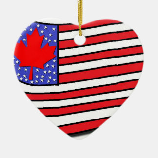 Canadian American Christmas Ornament