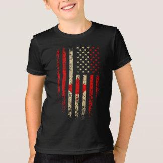 Canadian American Flag Grunge T-Shirt