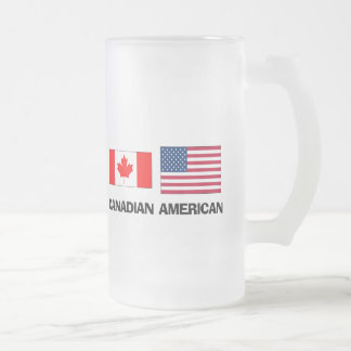 Canadian American Frosted Glass Beer Mug