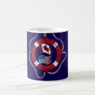 Canadian-American nautical design Basic White Mug