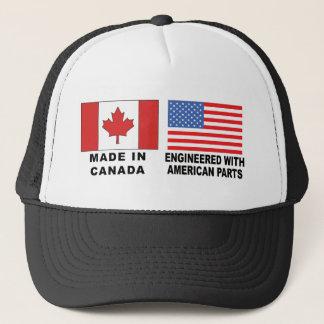 Canadian American T-Shirt Trucker Hat