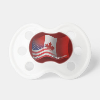 Canadian-American Waving Flag Baby Pacifier
