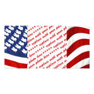 Canadian / American Waving Flag Card