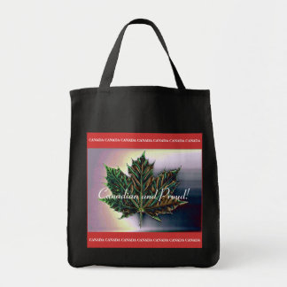 Canadian and proud!-Maple Leaf Enhanced Tote Bag