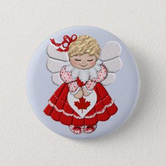 Canadian Angel 6 Cm Round Badge