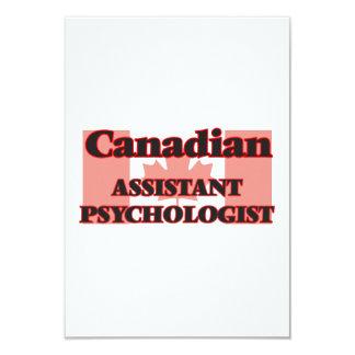 Canadian Assistant Psychologist 9 Cm X 13 Cm Invitation Card
