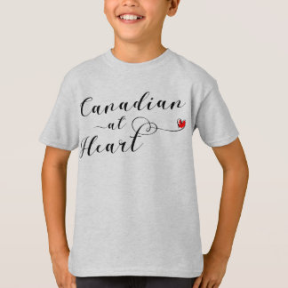 Canadian At Heart Tee Shirt, Canada
