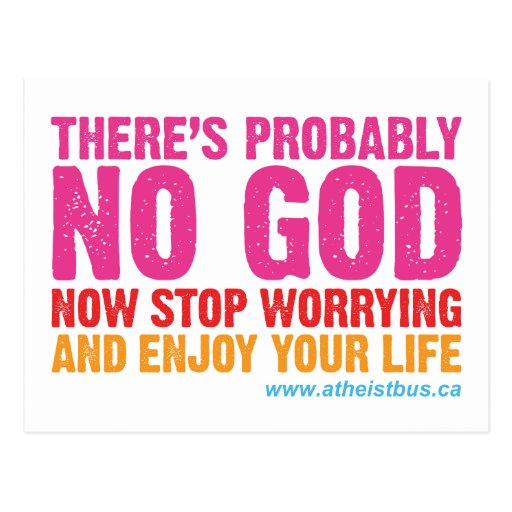 Canadian Atheist Bus Campaign Post Card