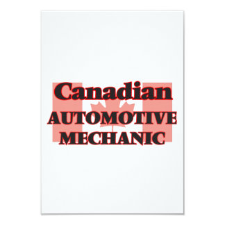 Canadian Automotive Mechanic 9 Cm X 13 Cm Invitation Card