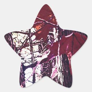 Canadian Autumn Artistic Star Sticker