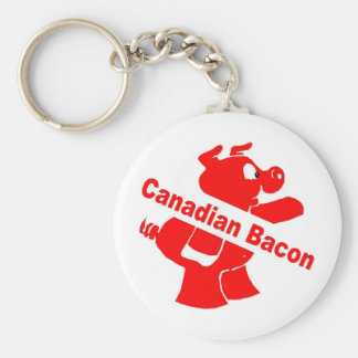 Canadian Bacon Key Ring
