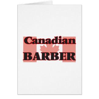 Canadian Barber Greeting Card