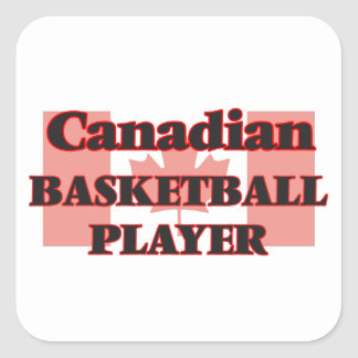Canadian Basketball Player Square Sticker