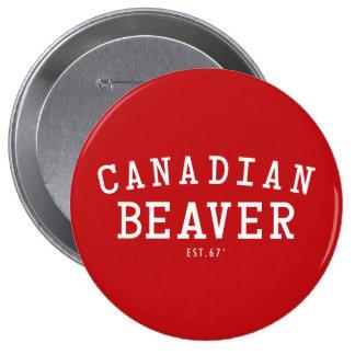 Canadian Beaver 67 10 Cm Round Badge