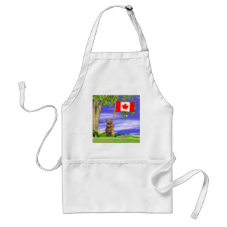 Canadian Beaver and Flag Standard Apron