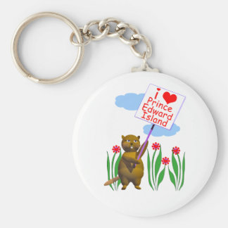 Canadian Beaver Loves Prince Edward Island Key Ring