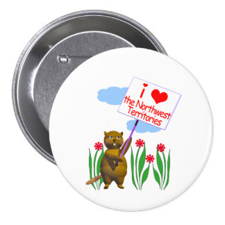 Canadian Beaver Loves the Northwest Territories 7.5 Cm Round Badge