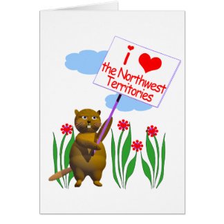 Canadian Beaver Loves the Northwest Territories Greeting Card