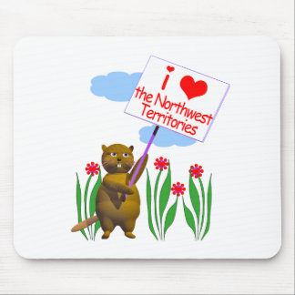 Canadian Beaver Loves the Northwest Territories Mouse Pad