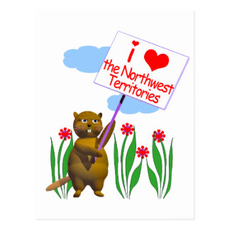 Canadian Beaver Loves the Northwest Territories Postcard