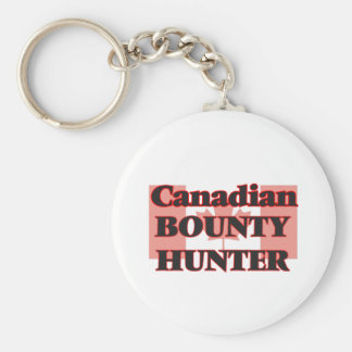 Canadian Bounty Hunter Basic Round Button Key Ring