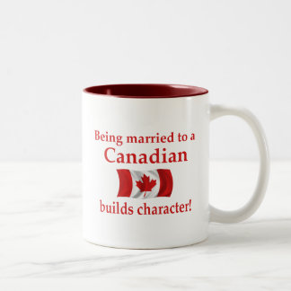 Canadian Builds Character Two-Tone Mug