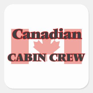 Canadian Cabin Crew Square Sticker
