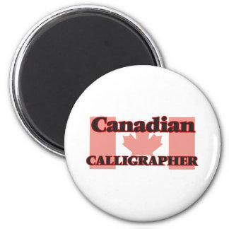 Canadian Calligrapher 6 Cm Round Magnet