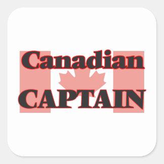 Canadian Captain Square Sticker