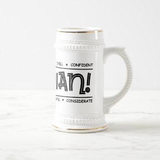"""Canadian Characteristics"" Full Wrap Design Stein"