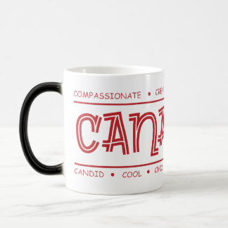 Canadian Characteristics! Wrap Design MORPHING Mug