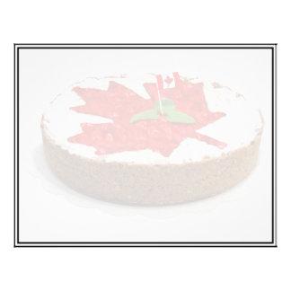 Canadian Cherry Maple Leaf Cake 21.5 Cm X 28 Cm Flyer