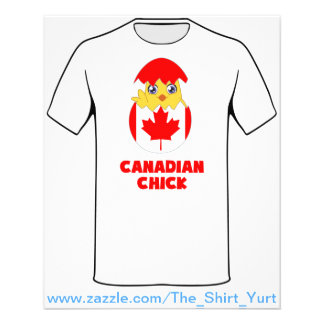 Canadian Chick, a Girl From Canada 11.5 Cm X 14 Cm Flyer