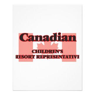 Canadian Children's Resort Representative 11.5 Cm X 14 Cm Flyer