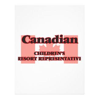 Canadian Children's Resort Representative 21.5 Cm X 28 Cm Flyer