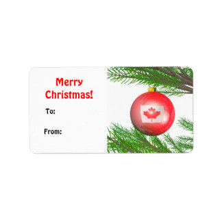 Canadian Christmas Tree Decoration Gift Tag